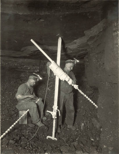 Miner with drill